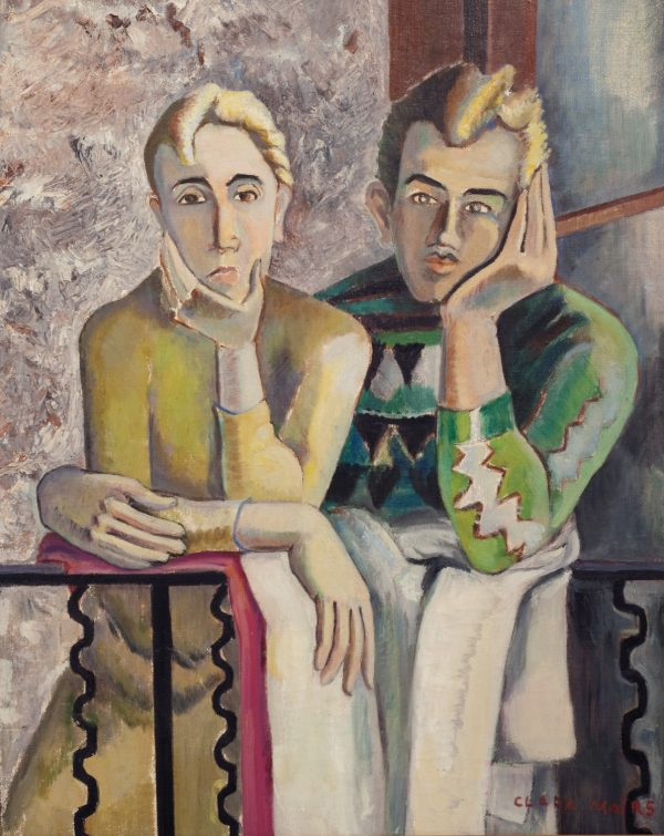 CLARA AND CLEM, PAINTED BY CLARA MAIRS