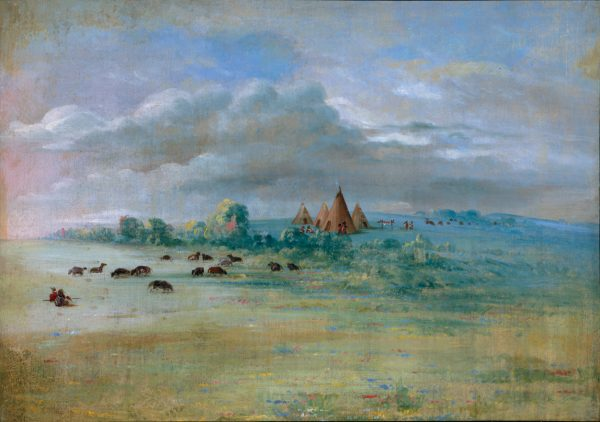 Sioux Village, Lake Calhoun, near Fort Snelling, 1835-1836.