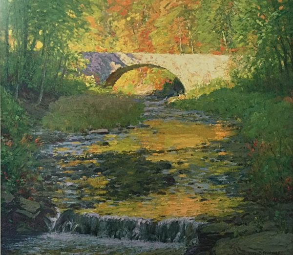 South Bend Bridge, Autumn, ca. 1920 by Alexis Jean Fournier