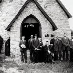 Whipple at St. Cornelia's Church at Birch Coulee Mission.