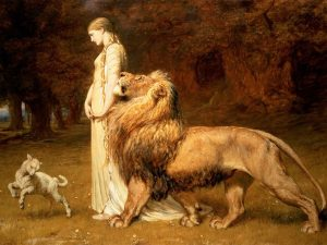 Briton Rivière's painting of Una and the Lion